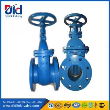 Ductile Iron DIN F4 Metal Seal non rising stem gate valve 6 inch