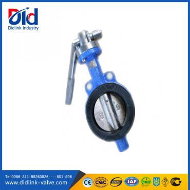 Vulcanized Wrench Operated Butterfly Valve Dn200, valve butterfly wafer