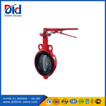 Cast iron wafer type screw ultraflo butterfly valve 2 inch, shut off butterfly valve
