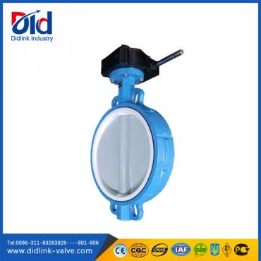 Teflon Seat Nylon Disc Wafer Type 8 inch Butterfly Valve gear type, butterfly valve stem SS410