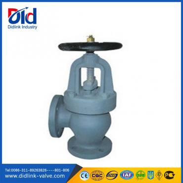 F7306/7308/7310 Cast iron angle type globe valve for steam  2CR13, globe control valve manufacturer