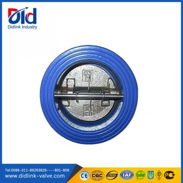 Cast iron wafer type dual plate check valve spring type, back pressure check valve