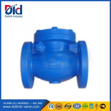 DIN cast iron flanged swing check valve suppliers, metal check valve