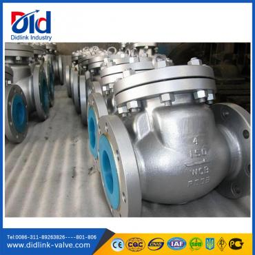 ANSI  Cast steel 4 inch swing Check Valve design, cf8 steam check valve