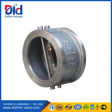 Stainless steel wafer type dual plate 1 spring check valve picture, free flow check valve