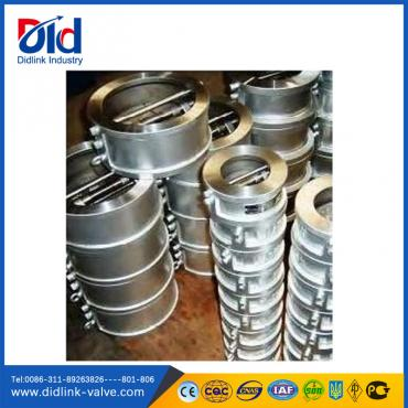 Stainless steel dual plate wafer swing check valve function, plumbing check valve residential