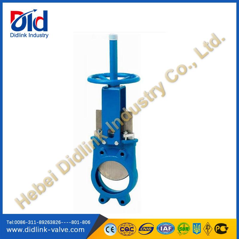 Wafer Ductile iron Manual Knife gate valve 1 2, automatic Knife gate valve