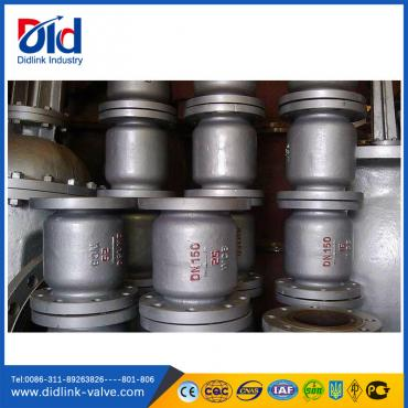 Cast steel vertical low pressure check valve lift type, 1 way check valve