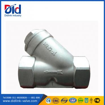 Stainless steel CF8M Thread inlet strainer for food, steam trap strainer
