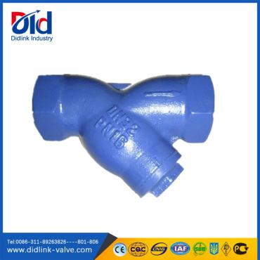Cast Iron BSP NPT Screwed simplex Y Strainer steam, y strainer gaskets rubber