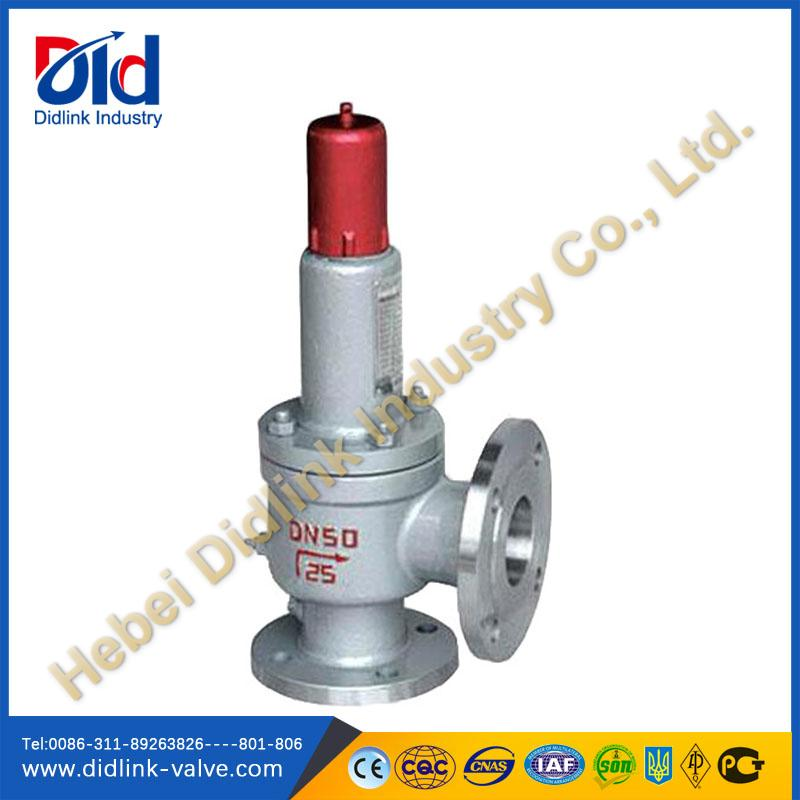 Bellows safety valve gas conventional