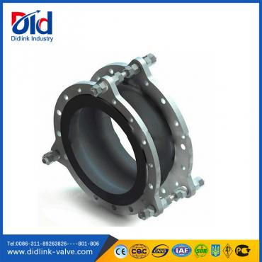 Limited rod flexible rubber joint bellows
