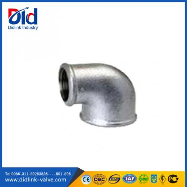 Malleable iron 90 degree reducing f&f