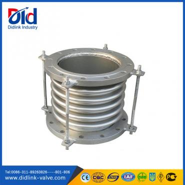 Expansion joints with tie rod and flange
