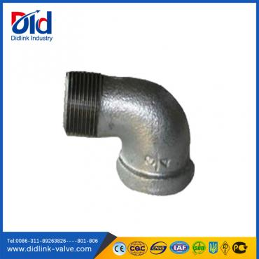 Malleable iron 90 degree reducing m&f
